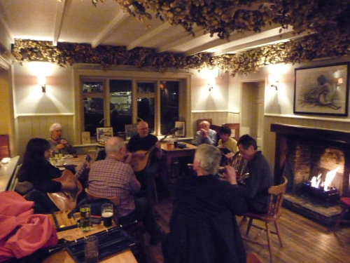 The Celtic Session gets a warm welcome at the Yew Tree, Barfreston.