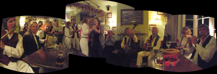 An annual joint gathering of Oyster Morris and Creekside Appalachian for a dance and music session.